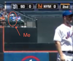 On TV with David Wright